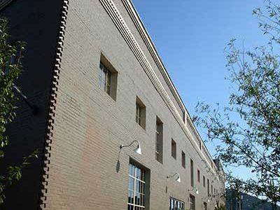 A photo of the exterior side of the Big Lick Junction building