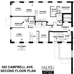 Big Lick Junction Second Floor Plan, Front