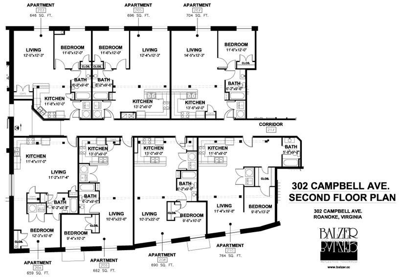 Big Lick Junction Second Floor Plan, Middle